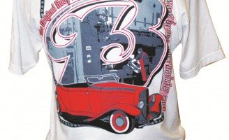 "White ""B"" with 1932 Roadster T-Shirt"