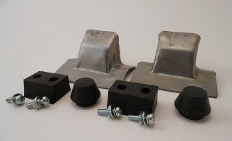 28-29 Rumble Seat Stops with Rubber Bumpers