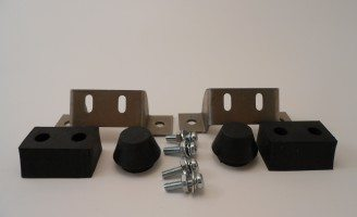 32 Roadster & 5-Window Coupe Rumble Seat Stops with Rubber Bumbers
